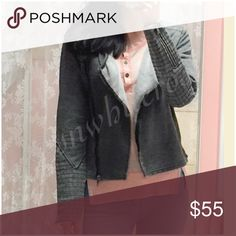 Raw Edge Moto Jacket Raw Edge Moto Jacket. New with tag. Comfort and edge in one piece. Soft sweatshirt material with cozy fleece interior, Moto details and raw edges. Perfect weight and neutral shade that goes with the lighter colored Spring and Summer outfits as well as the darker color fall shades! Please make all inquires and requests for additional photos prior to purchase. Jackets & Coats