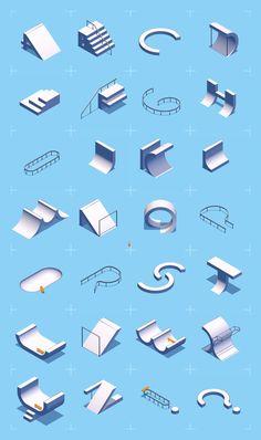 Voici une nouvelle typo… entièrement faite de morceaux de skatepark animés | Unrated
