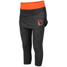 Miami Hurricanes Colosseum Women's Bikram Short Leggings - Charcoal - $35.99
