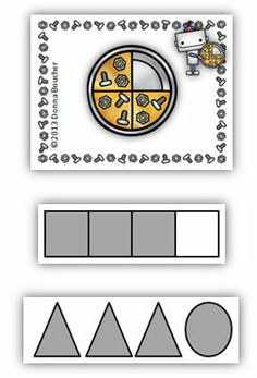 """Classroom Freebies: Robot Fractions. Your kids will get the """"nuts and bolts"""" of equivalent fractions with this adorable freebie!"""