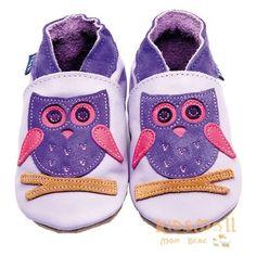 英國製Inch Blue,真皮手工學步鞋禮盒,Hoot-Lilac/Lavender