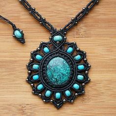 Pendant with turquoise mimic southwestern style