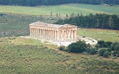 Doric Temple of Segesta constructed in the late 5th century B.C.