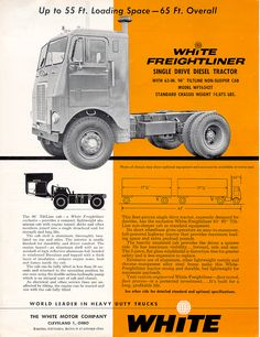 Freightliner Pictures Big Rig Trucks, Semi Trucks, Cool Trucks, Chevy Trucks, Antique Trucks, Vintage Trucks, Vintage Ads, Freightliner Trucks, Freight Truck