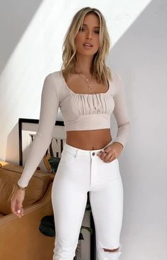 Sexy Outfits, Chic Outfits, Trendy Outfits, Fashion Outfits, Womens Fashion, Girl Outfits, Wide Leg Yoga Pants, Yoga Pants With Pockets, Looks Pinterest