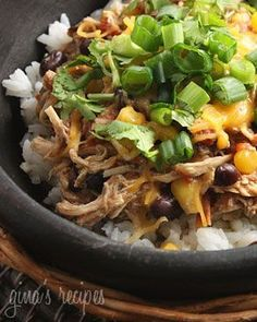 Crock Pot Santa Fe Chicken | Skinnytaste. Made this... It is delicious!  Definitely making this again. Simple to make and Paul loved it too!