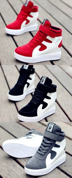 552e04c7929e Shoespie Hot Color Block Elevated Sneakers Sneaker Heels
