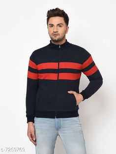 Sweatshirts Sweatshirt Fabric: Cotton Blend Sleeve Length: Long Sleeves Pattern: Striped Multipack: 1 Sizes: S (Chest Size: 39 in Length Size: 26 in Waist Size: 38 in)  XL (Chest Size: 45 in Length Size: 29 in Waist Size: 44 in)  L (Chest Size: 43 in Length Size: 28 in Waist Size: 42 in)  M (Chest Size: 41 in Length Size: 27 in Waist Size: 40 in)  XXL (Chest Size: 47 in Length Size: 30 in Waist Size: 46 in)  XXXL (Chest Size: 49 in Length Size: 31 in Waist Size: 48 in)  Country of Origin: India Sizes Available: S, M, L, XL, XXL, XXXL   Catalog Rating: ★4.3 (454)  Catalog Name: Trendy Retro Men Sweatshirts CatalogID_1160617 C70-SC1207 Code: 884-7259769-9462