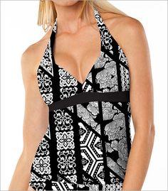 Aerin Rose Niwa Halter Underwire Tankini Swimsuit Top Style 223