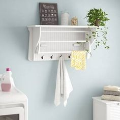 Laundry by Shelli Segal Rebrilliant Drying Rack Laundry Cart, Laundry Drying, Laundry Room Storage, Laundry Rooms, Laundry Basket, Clothes Drying Racks, Clothes Dryer, Wall Mounted Drying Rack, Pallet Furniture