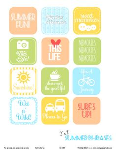 Summer Phrases - Free Printable Download - Vintage Glam Studio
