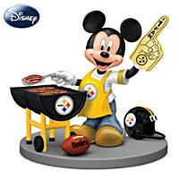 Who's the leader of the Pittsburgh Steelers fan club? Mickey Mouse, of course. This officially-licensed figurine features Mickey himself all decked out in Steelers garb and ready for the next big . Steelers Gear, Steelers Football, Steelers Stuff, Pitsburgh Steelers, Broncos, Pittsburgh Steelers Merchandise, Pittsburgh Sports, Mickey Mouse Figurines, Disney Figurines
