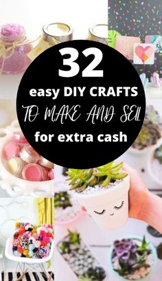 Looking for hot craft ideas to sell on Etsy or at craft fairs? Check out these 32 EASY crafts to make and sell from home to make EXTRA CASH quickly! Check out these DIY crafts to sell NOW! Diy Projects You Can Sell, Diy Crafts Easy To Make, Diy Money Making Crafts, Diy Crafts To Sell On Etsy, Diy Projects For Kids, Homemade Crafts, Extra Cash, Extra Money, Mason Jar Crafts