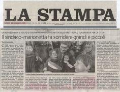 TORINO OLIMPIADI 2006 - Con la sosia-marionetta dell'allora Sindaco Sergio Chiamparino - Per 20 domeniche consecutive ad Atrium in piazza Solferino per raccontare momenti storici e d'attualità, attraverso scenette divertenti con le nostre marionette.
