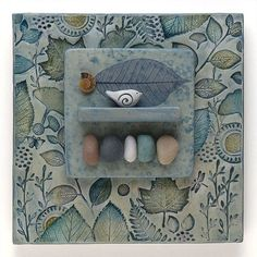 Mixed Media Wall Art,ceramic assemblage Home Decor, Wall Art ,Nature Inspired Ceramic Wall Art, Ceramic Clay, Porcelain Ceramics, Ceramic Pottery, Home Decor Wall Art, Art Decor, Newspaper Crafts, Media Wall, Clay Tiles