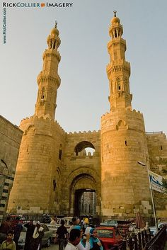 The Bab Zwayla gate to the old city, Cairo, Egypt. Cairo