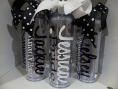 Wedding+Tumblers+++Bride+Bridesmaid+gifts+by+GetItPersonalized,+$10.00