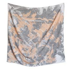 Emily + Ilana hand marbled silk scarf