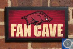 Arkansas Razorbacks Fan Cave Classic Finish Vintage by CrestField