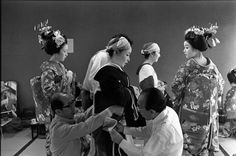 Henri Cartier-Bresson // JAPAN. Kyoto. 1978. Gion district. Backstage theatre.