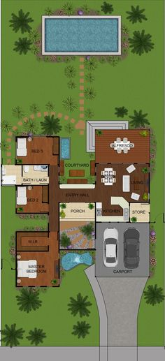 2D Colour Floor Plans Marketing | Floor Plans | Pinterest