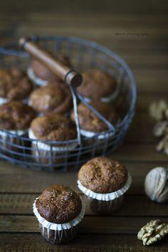 Muffins de espelta, zanahoria y nueces