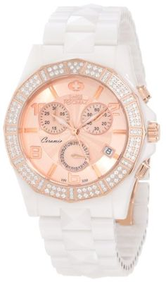 205832e990b Swiss Precimax Women s SP12137 Luxe Elite Mother-Of-Pearl Dial White  Ceramic Band Watch