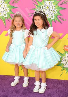 Sophia Grace and Rosie | At the 2013 Kids' Choice Awards