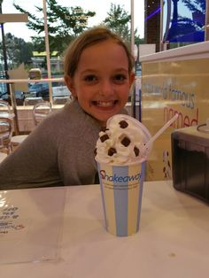 "Zoe with her ""Joshua"" Milkshake!"