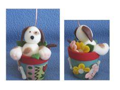 Portafoto - cagnolino nel vaso
