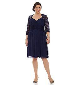 Adrianna Papell Woman Draped Lace Dress #Dillards
