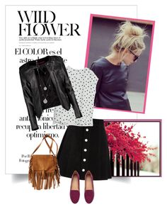 """""""Back to school"""" by lindagama on Polyvore featuring Arco, AG Adriano Goldschmied, MANGO, H&M, Boohoo, Vince Camuto, American Eagle Outfitters, BackToSchool, loafers and leatherjackets"""