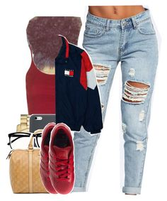 """Untitled #1572"" by toniiiiiiiiiiiiiii ❤ liked on Polyvore featuring Michael Kors, Topshop, H&M, Gucci, Boohoo and adidas"