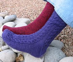 Knitty: Summer 2006 - Toe up heel that's not short row