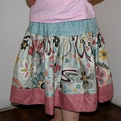 Great drop-waist gathered skirt tutorial!