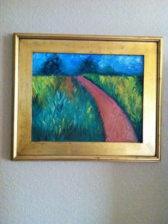 Framed oil painting by dawn laughlin