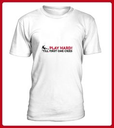 Football Quotes play hard until one cri - Foto shirts (*Partner-Link)
