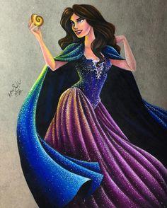 "Vanessa from ""The Little Mermaid"" - Art by Max Stephen (maxxstephen on Instagram)"