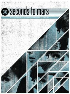 Gig poster: Seconds to Mars