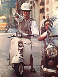 Vespa Police in Hong Kong, 1969