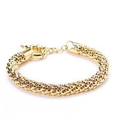 Gold Popcorn Mesh Bracelet today!