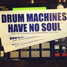 """""""Drum machines have no soul"""" …or is it all in how it's programmed/played? #Akai #MPC"""