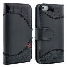 Crocodile Pattern Luxury Leather Case for iPhone 5 - Black US$6.99