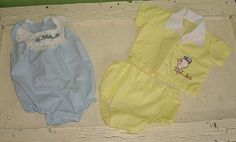 vintage baby clothes...  Love the boy diaper set.  I wish they still made those.