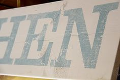 DIY Vintage Kitchen Sign