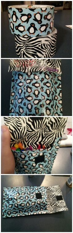 Duct tape back to school pencil pouch