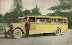 The Niagara Reservation Bus uses luxurious Pierce Arrow observation coaches. The trip around the State Reservation at Niagara embraces the best views of the American Fall, American Rapids, Horseshoe Fall, and the Upper Rapids, as well as historic