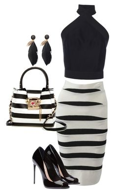 """""""Night Out"""" by kimchi28 ❤ liked on Polyvore featuring Hervé Léger, Martin Grant and Betsey Johnson"""