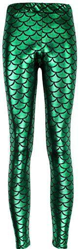 wholelsales Summer style women's Scale leggings 10 color S-XL size Simulation mermaid sexy pants Digital print colorful leggings