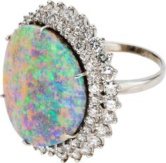Opal, Diamond, Platinum Ring-Dant.